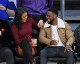 nice Kevin Hart and Eniko Parrish Show Off Their Sweet Love at a Basketball Game on Christmas Day