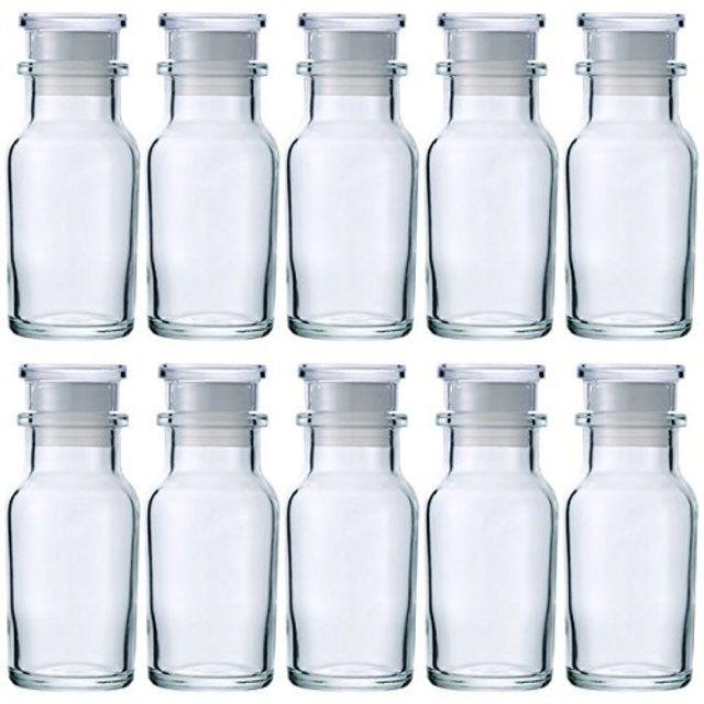 【10本セット】スパイスボトル ワグナー瓶 樹脂キャップ 中栓付 66.7ml