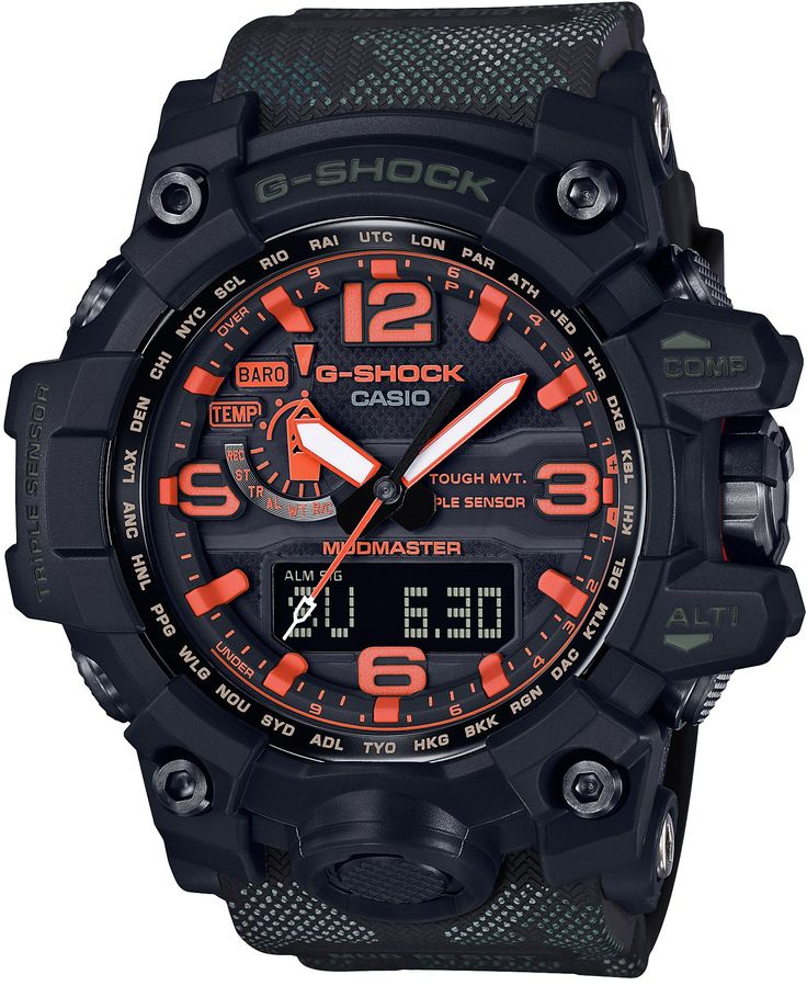 CASIO G-SHOCK Maharishi x Mudmaster GWG-1000MH-1AJR MENS JAPAN IMPORT. World time. Made in japan.