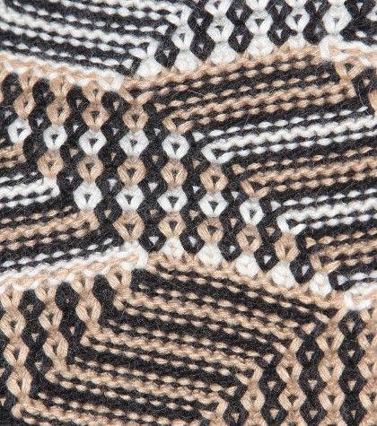 "By Malene Birger_ tuck stitch ""maze/mosaic"""