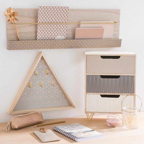 Box 3 Schubladen aus Holz, H 35 cm, SCOOP Mehr – #…