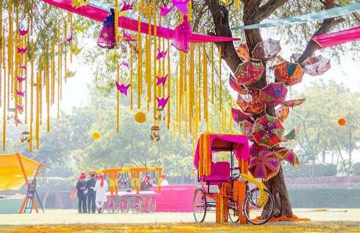 Outdoor wedding idea # Indian weddings # sangeet