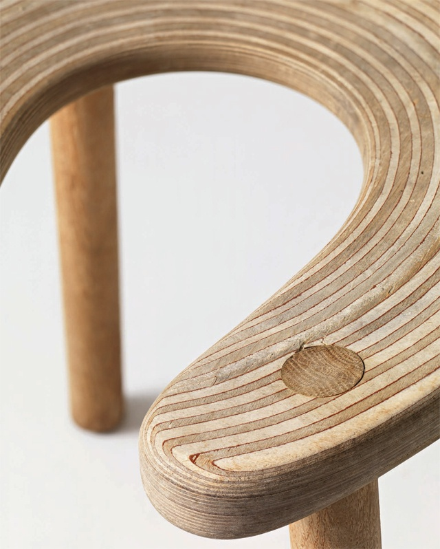 Sauna Stool / Antti Nurmesniemi / 1952  Open in the center so you can sweat!