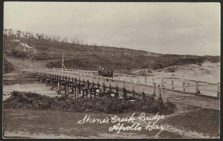 Skene's Creek Bridge, Apollo Bay c.a. 1908. State Library of Victoria.