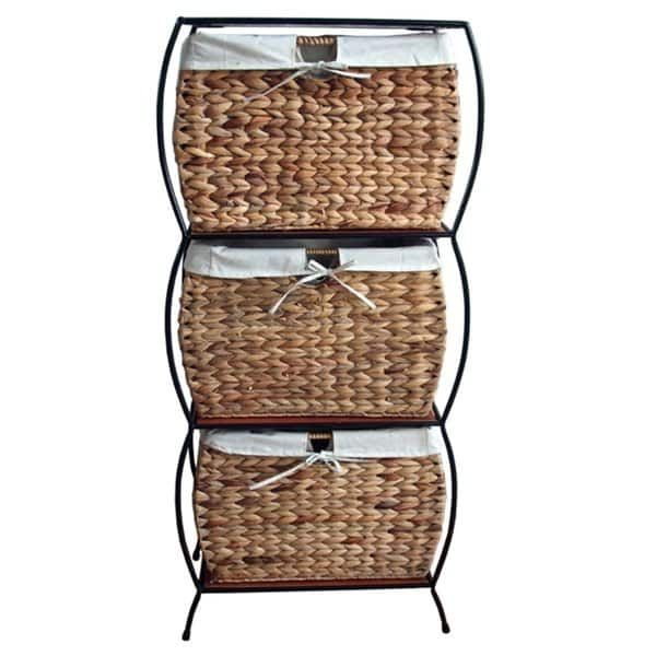 Rattan 3 Drawer File Cabinet Filing Cabinet Four Drawer File Cabinet Storage Baskets