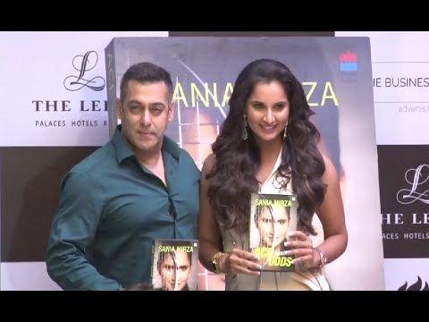 Salman Khan launches Sania Mirza's autobiography 'Ace against Odds'.