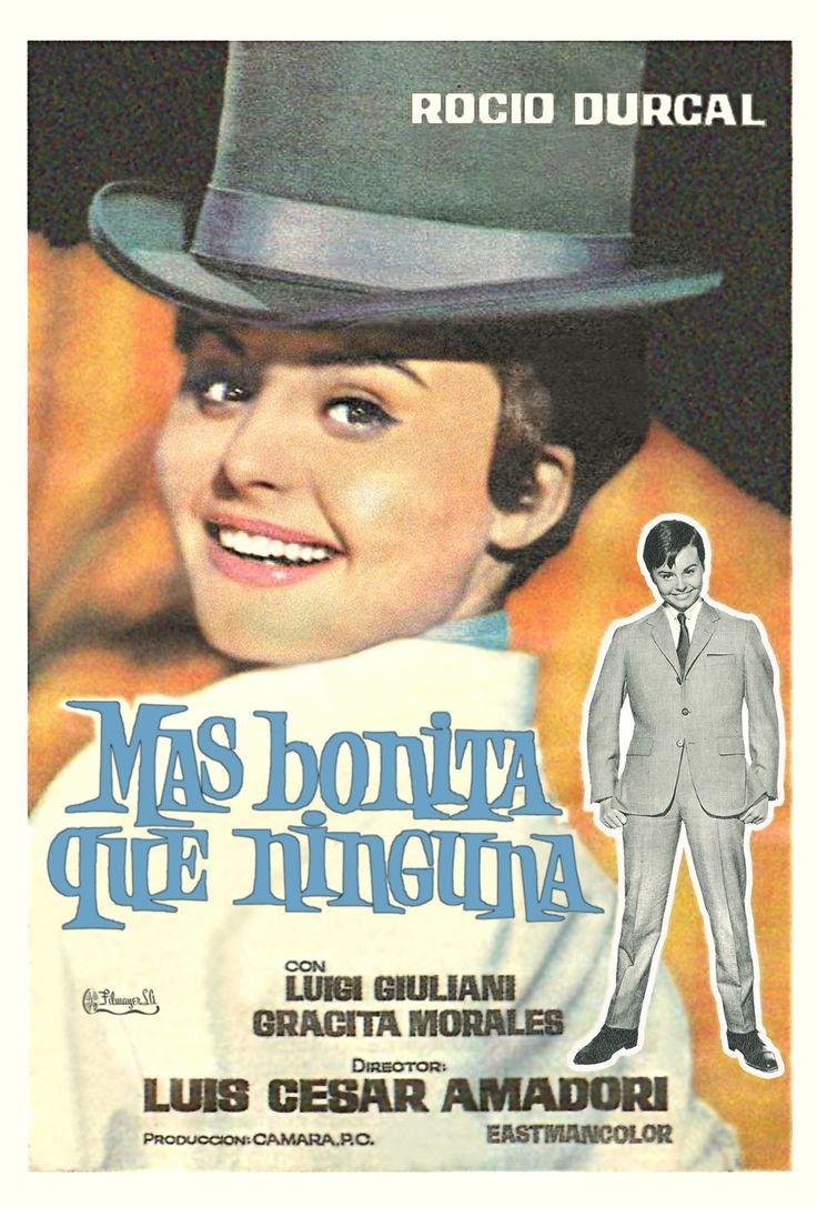 """""""Más bonita que ninguna"""" (1965). Country: Spain. Director: Luis César Amadori. Music: José Torregrosa, Los Brincos. Cast: Rocío Dúrcal, Luigi Giuliani, Gracita Morales, Tomás Blanco"""