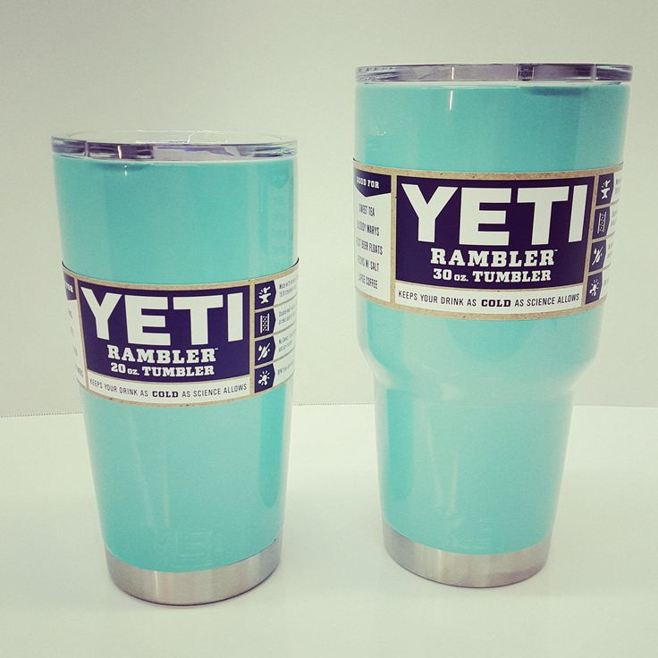 Yeti Powder Coated Tiffany Blue - Choose Your Size and Color by thejoyschoppe on Etsy