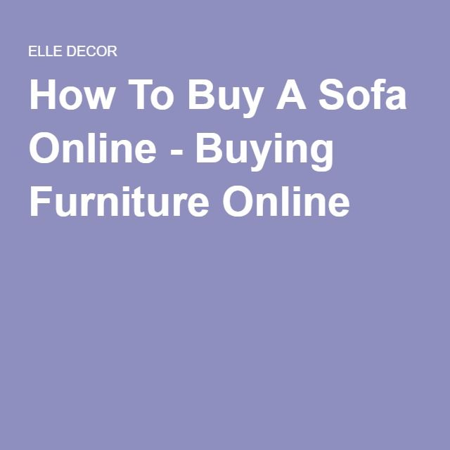 How To Buy A Sofa Online