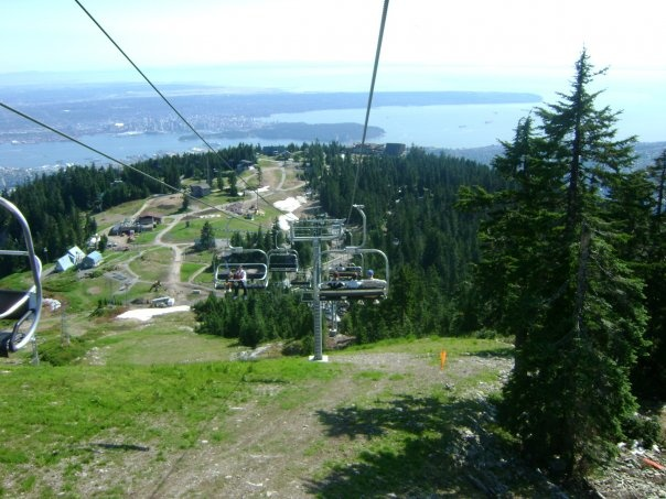 Chairlift down Grouse