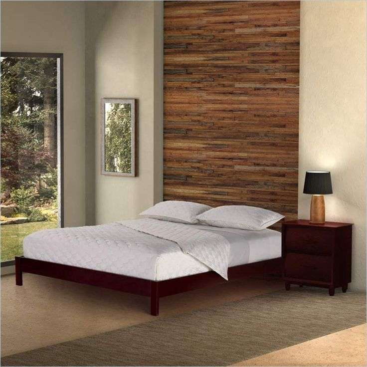 Fashion Bed Murray Modern Platform Bed in Mahogany - B5108
