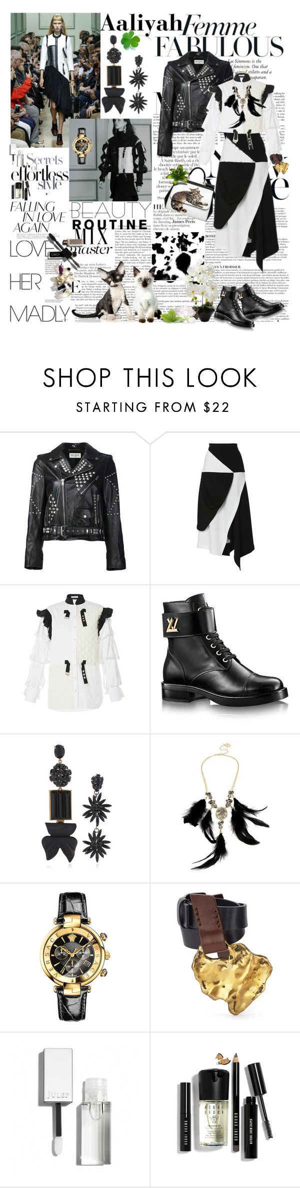 """Aaliyah 2016-547"" by aaliyah ❤ liked on Polyvore featuring Anja, Yves Saint Laurent, Marni, Betsey Johnson, Libertine, Versace, Bobbi Brown Cosmetics and polyvoreeditorial"