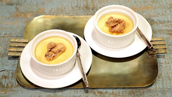 Maple Pots De Creme with Candied Pecans Recipe | The Chew - ABC.com