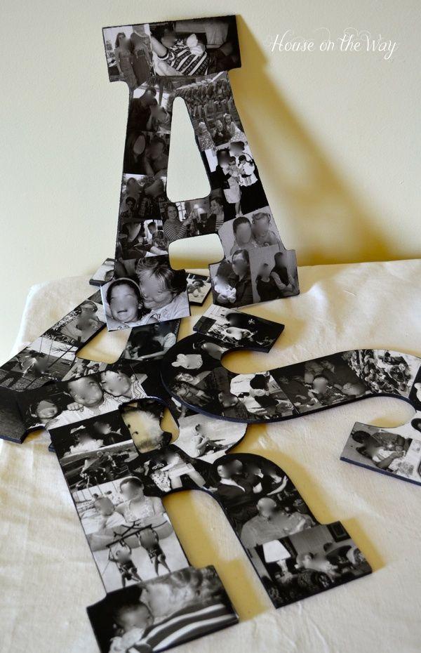 17 Interesting DIY Letters Decoration Ideas -