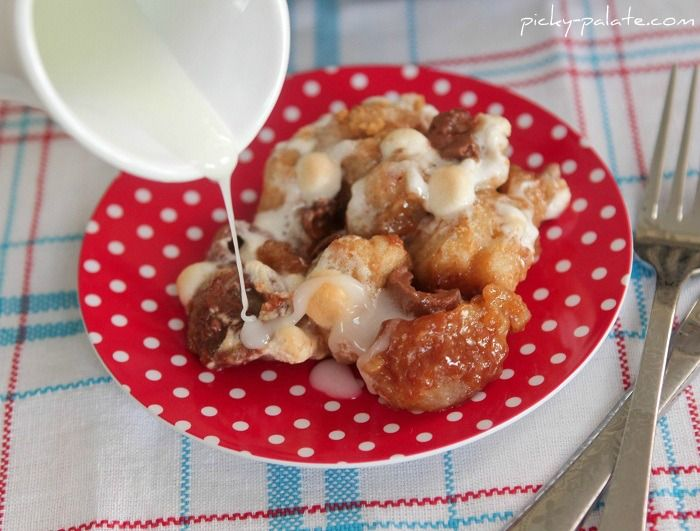 Rolo S'mores Skillet Monkey Bread -- putting this with brunch dishes ...