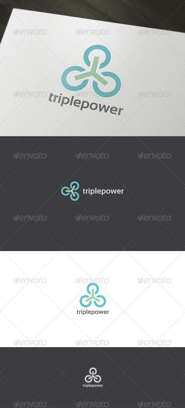 Power Logo — Vector EPS #green energy #energy logo