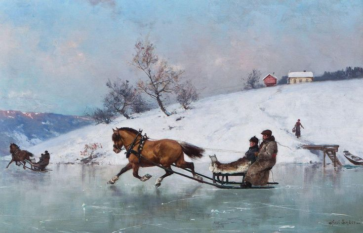 """Sledding on the ice"" by Axel Hjalmar Ender"