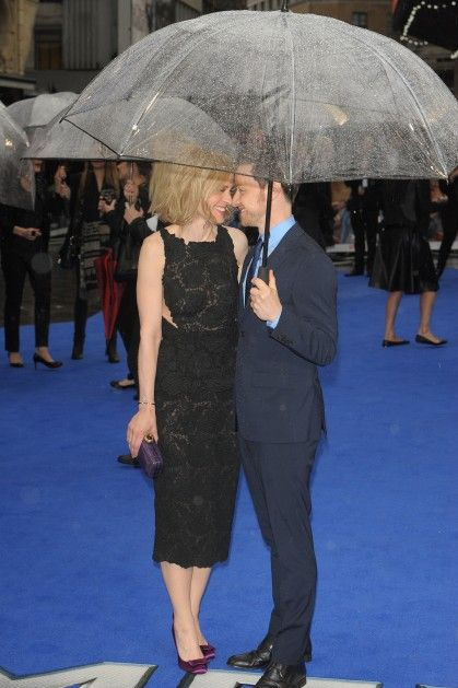 Not a tux, but a red (blue) carpet and more-than-makes-up-for-it levels of adorable from spouses Anne-Marie Duff and James McAvoy.