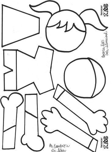 ALFABETIZAÇÃO CEFAPRO DE PONTES E LACERDA : Bonecas e Boneco em EVA com moldes