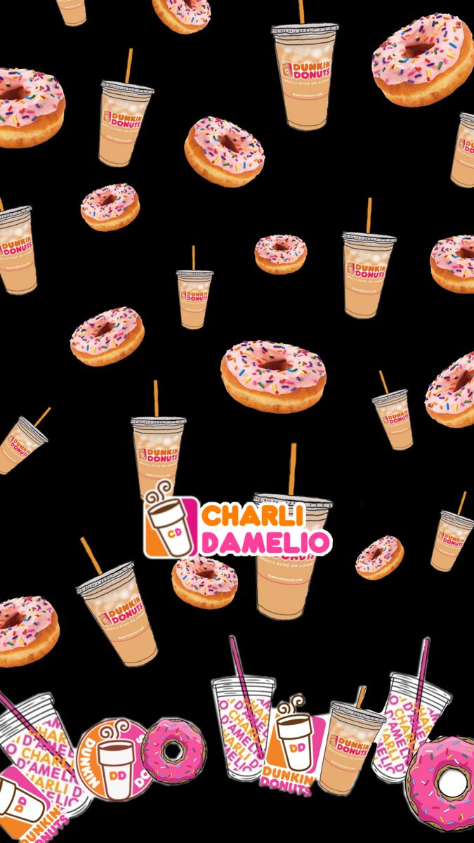Charli Damelio Wallpaper Cute Food Wallpaper Dunkin Wallpaper Iphone Summer