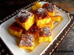 【簡単!!おやつ】フライパンで*焼くまで5分!カラメル卵ケーキ  山本ゆりオフィシャルブログ「含み笑いのカフェごはん『syunkon』」Powered by Ameba