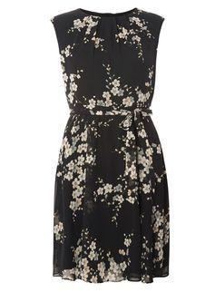 **Billie & Blossom Petite Black Floral Dress