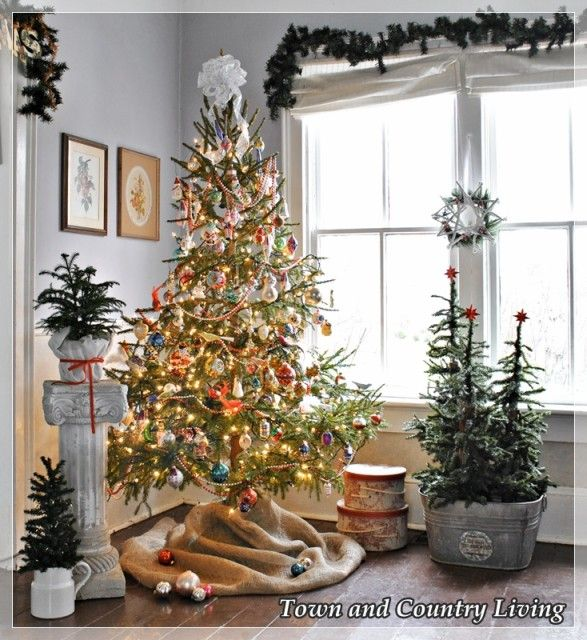 Trim several branches off your tree to make space for ornaments and create a Victorian feel.