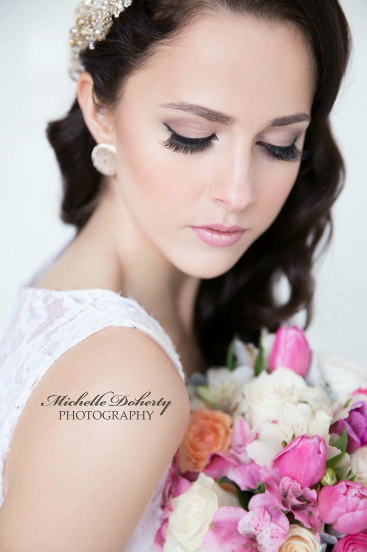 Bridal look, make up by Neetu Sahota, photography Michelle Doherty and hair by Devon Bree Baker