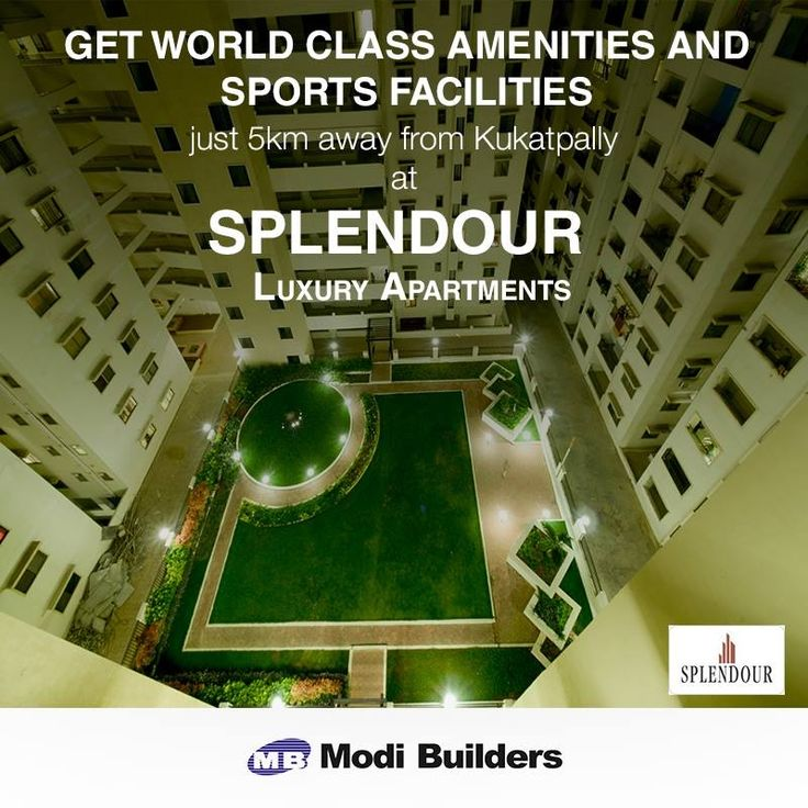 Get Apartments in kukatpally, Hitech  city Luxury apartments and open plots in Hyderabad from the experts, Modi Builders which is one of the successful construction companies in Hyderabad.