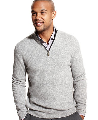 Club Room Sweater, Cashmere Solid Mock-Neck Sweater - Mens Sweaters - Macy's