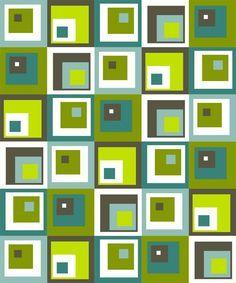 Modern Quilt Pattern - Off-Centered Squares - PDF