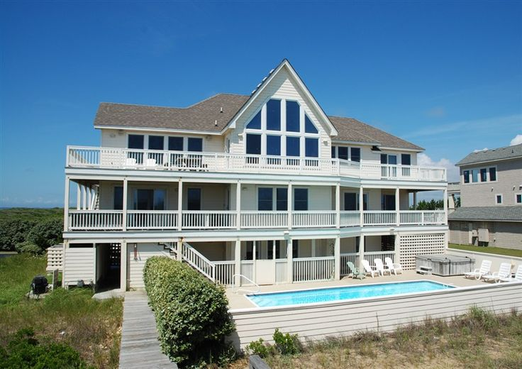 Twiddy Outer Banks Vacation Home Sunrise Sunset Corolla Oceanfront 9 Bedrooms Obx