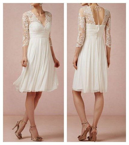 Lace & Chiffon Bridesmaid Dress Chiffon Flowy Skirt by azhdress