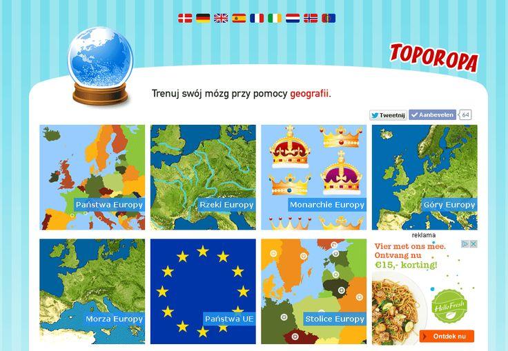 Toporopa gry edukacyjne: Geografia Europy