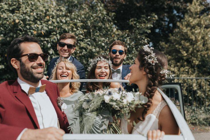 virginie hamon photographe costume de marié grenat, robe de mariée sessun