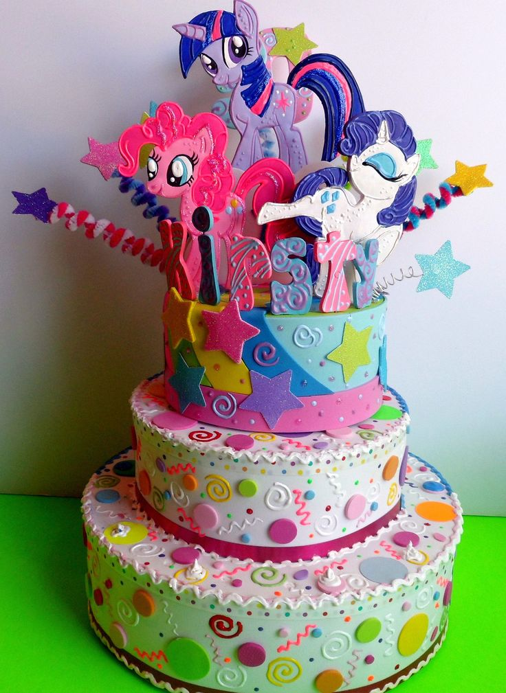 My Little Pony Birthday cake topper. If only I had all the time in the world, I'd totally make this