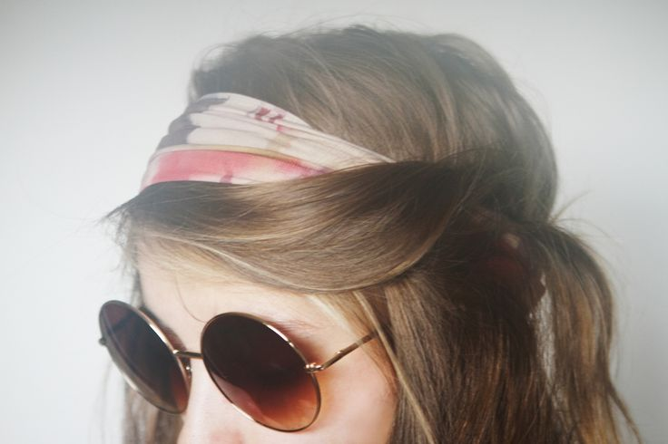 from freepeople.com: Round Glasses, Hair Colors, Headbands Hairstyles, Hair Twists, Scarfs Style, Scarfs Headbands, Headband Hairstyles, Cute Hair, Bandanas