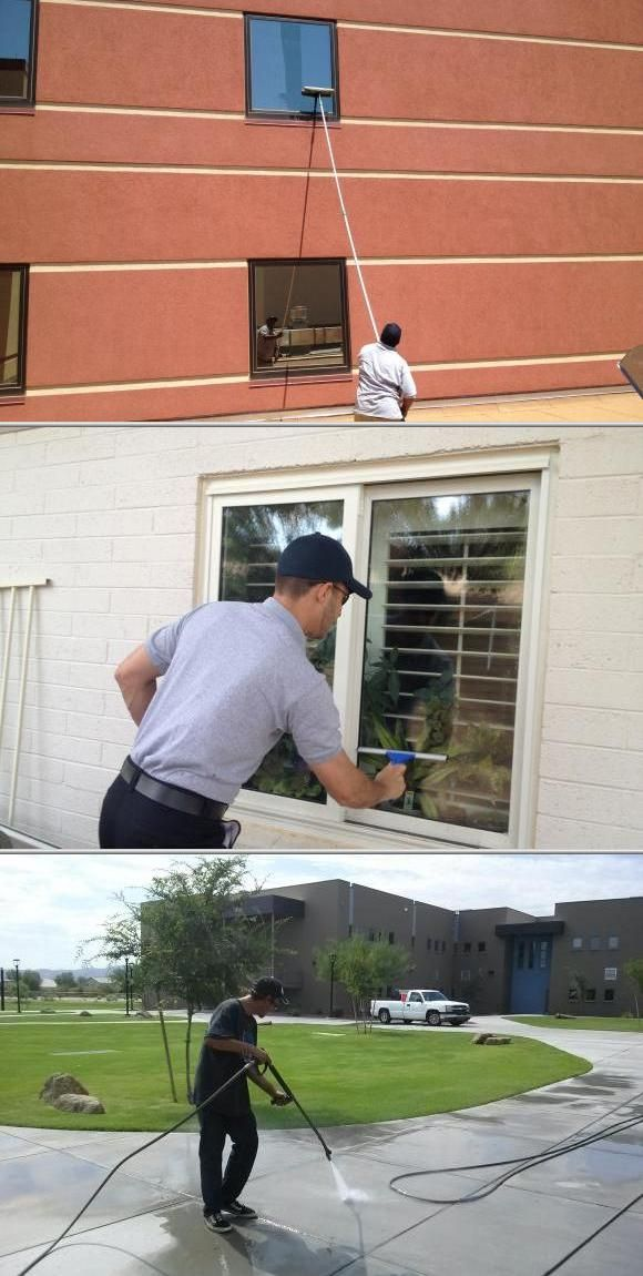 AZ Window Cleaners is among the window cleaning companies that provide solutions for businesses and homes. They also offer parking lot sweeping and powerwashing services, among others.