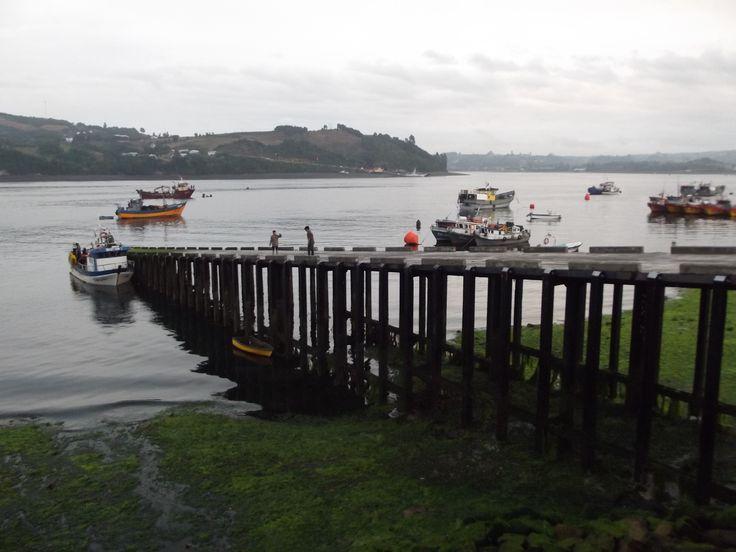 Dalcahue. Rampa de acceso para las embarcaciones.