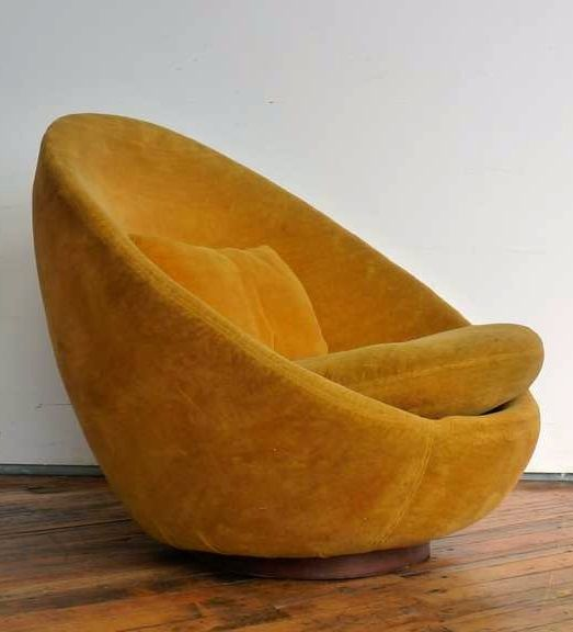 Milo Baughman; Swivel Chair for Thayer Coggin, 1972.