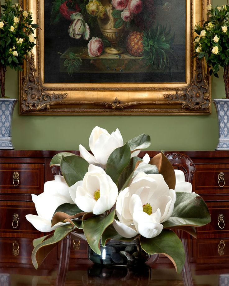 Silk Magnolia Centerpiece