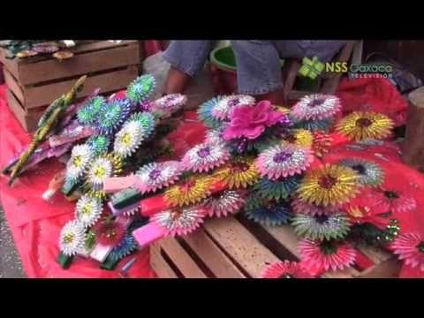 Coronas de día de muertos artesanía de Metepec edo de México - YouTube
