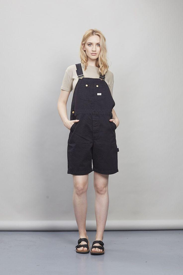 Vintage black lee dungaree shorts - Dungarees - Womens Vintage   Nordicpoetry.co.uk