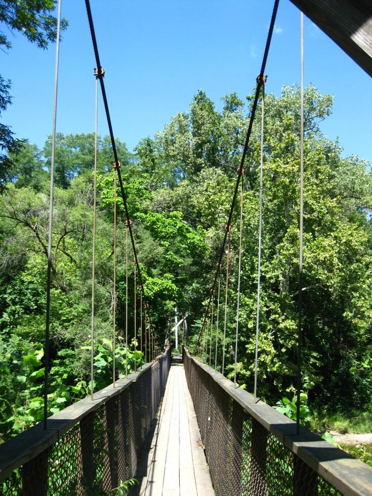 Bridge across the gorge in Richmond, Indiana