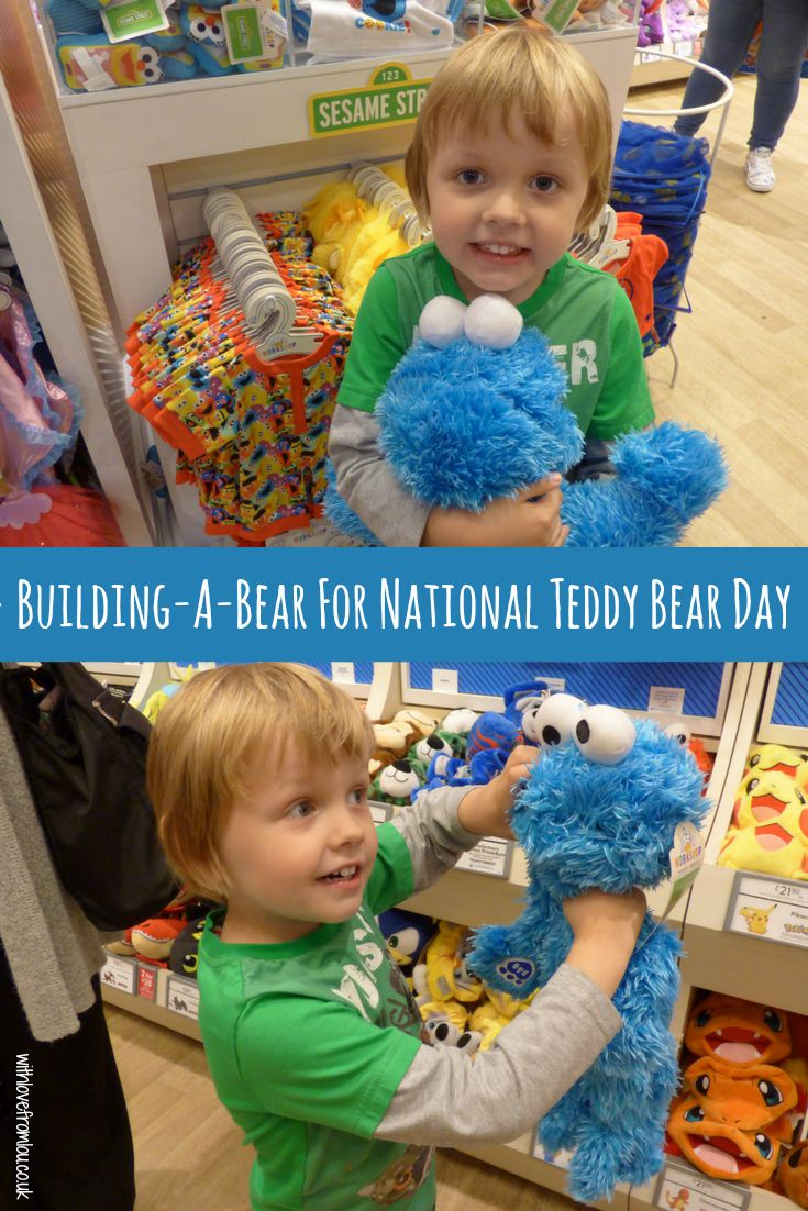 Building-A-Bear for National Teddy Bear Day. Click here for more info: http://withlovefromlou.co.uk/2017/09/national-teddy-bear-day/