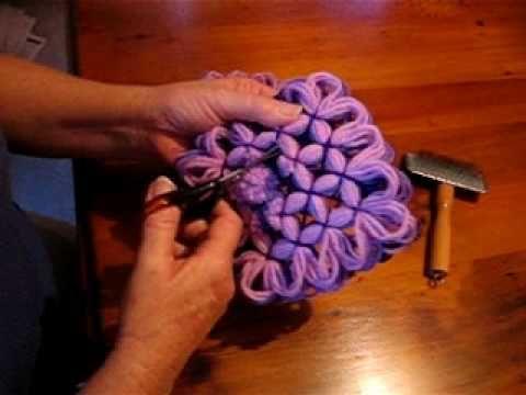 Cómo hacer tapetes de hilo de seda, Pompon (5/9), Cosido de hilos - YouTube