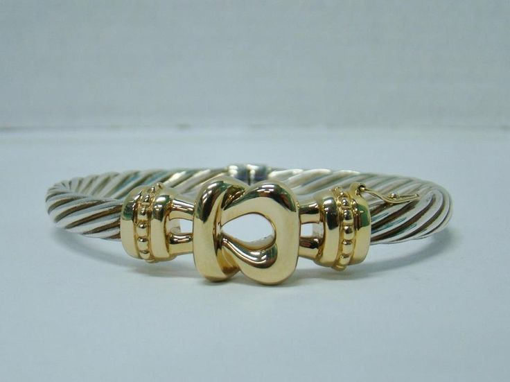 cuff diamond au gold david il cable vintage listing bangles yurman