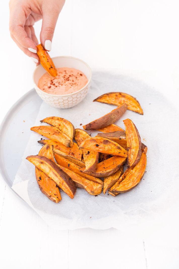 zoete-aardappel-wedges - #sweetpotato with chipotle
