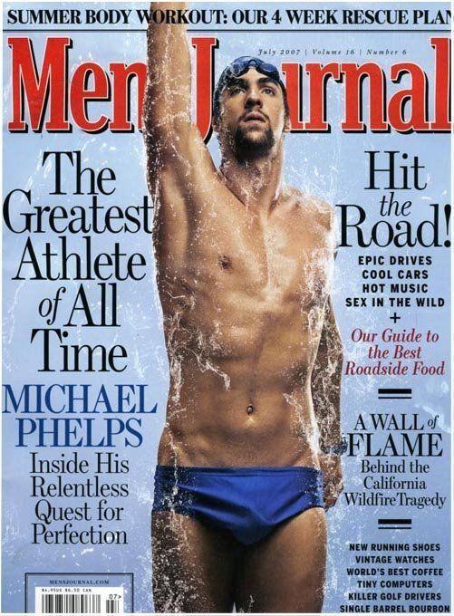 Michael Phelps swimming underwater