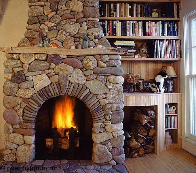 Дровяные камины для дома своими руками: фото, чертежи, инструкции